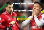 Arsenal Swaps Alexis Sanchez for Manchester United Henrikh Mkhitaryan- Signed deal, says Arsene Wenger