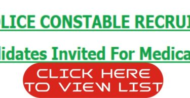 List of Candidates Invited For Nigeria Police Constable Recruitment Medical Screening 2018