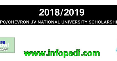 NNPC/CHEVRON Joint Venture (JV) National University Scholarship 2018 for Nigerian Students| Apply