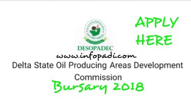 Apply for DESOPADEC Undergraduate Bursary 2018 | Application Form and Closing Date