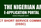 nigerianarmyms.ng| Nigerian Army Direct Short Service Commission (DSSC) Recruitment 2019/2020 Application Form