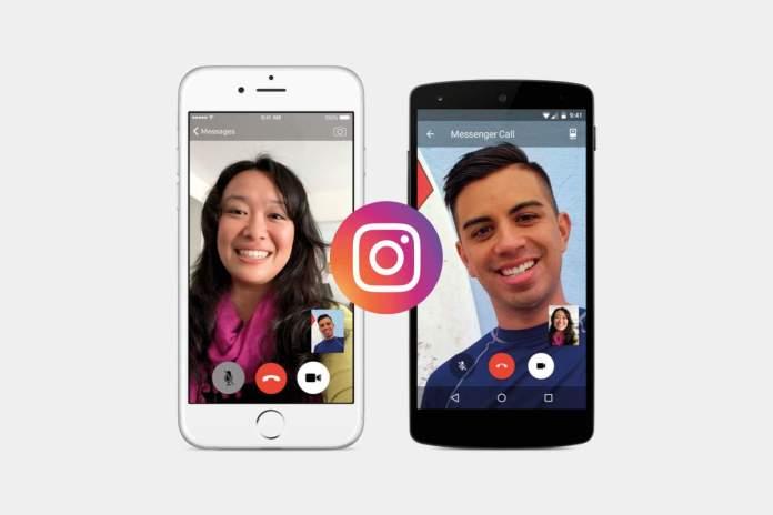 Instagram videochamadas