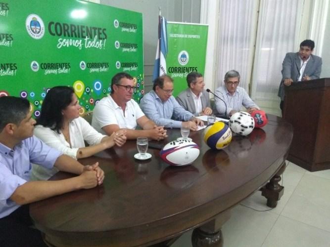 El Intendente Osnaghi en lanzamiento de los Juegos Correntinos de Playa 2019