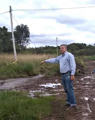 Obras Públicas de Paso de la Patria ante la lluvia