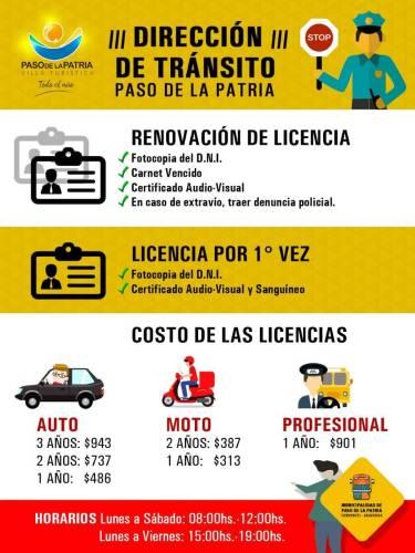 Requisitos para Licencias de Conducir en Paso de la Patria
