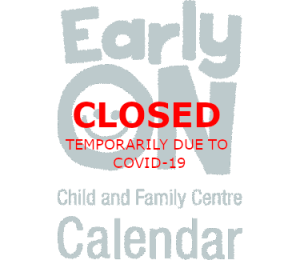 Early Years ON Child and Family Centre - Calendar