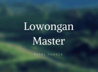 Job kapal tanker master