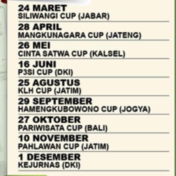 Jadwal LPI 2013