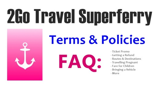 2go travel superferry policies terms promo refund fare