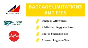 AIR ASIA PAL CEBU PACIFIC BAGGAGE ALLOWANCE FEES