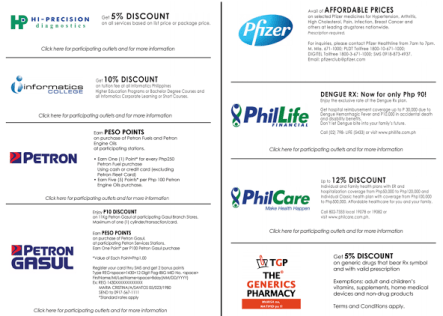 PAG-IBIG LOYALTY CARD DISCOUNT ON MEDICINE AND LPG PETRON PFIZER MEDICINE DISCOUNT PHILLIFE PHARMACY DISCOUNT