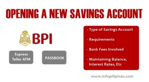 guide to opening a bpi savings account atm passbook