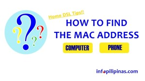 how to find mac address id wifi router