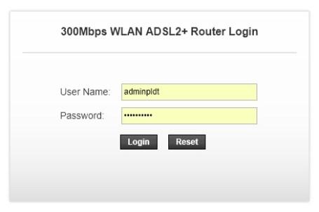 pldt dsl admin username password