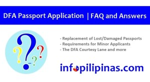dfa passport application for minors, replacement renewal process