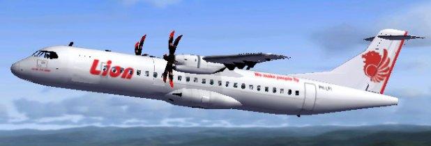 Pesawat Lion Air jenis ATR-72