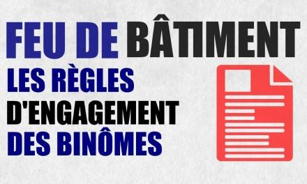 Feu de bâtiment : les règles d'engagement du binôme