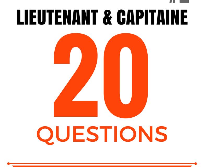 20 questions – Oral concours lieutenant & capitaine SPP #2
