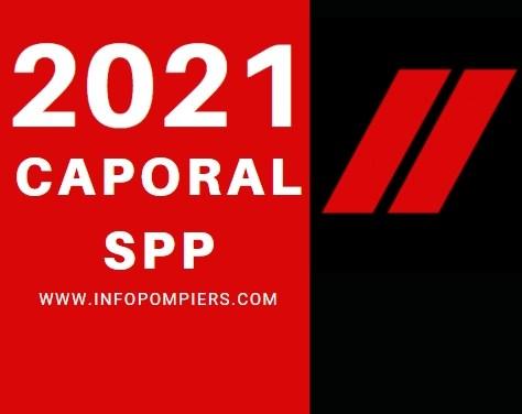 Concours externes de caporal SPP – Note de cadrage DGSCGC – 2021