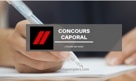 L'étude de texte – concours caporal SPP