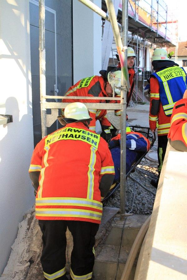 Feuerwehr Neuhausen übt Ernstfall