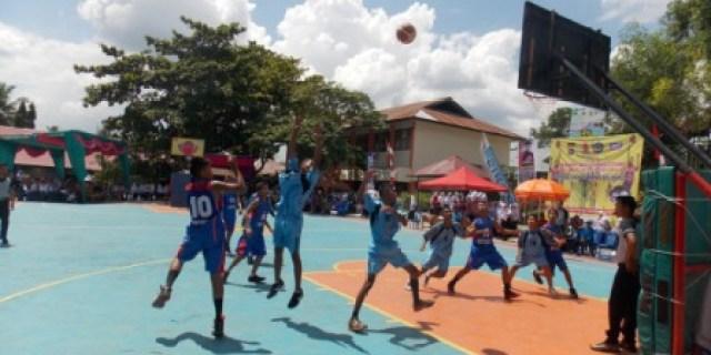SMP N 5 Kota Solok Gelar Kompetisi Basket SLTP se-Sumbar
