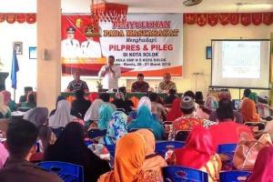 150 Tokoh Masyarakat Terima Penyuluhan Pemilu dari Walikota Solok