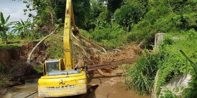 Aliran Sungai Batang Gawan Sudah Kembali Lancar