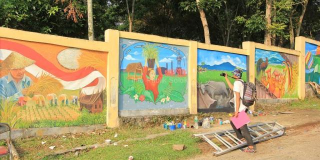 Aneka Seni Lukisan Meriahkan Solok Mural Competition