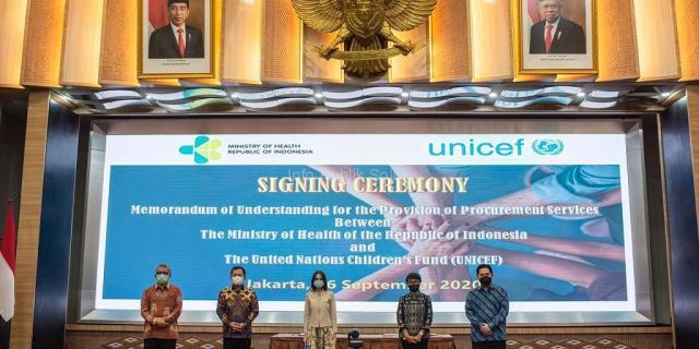 Kemenkes-UNICEF Tandatangani Kerja Sama Pengadaan Vaksin dan Obat yang Terjangkau