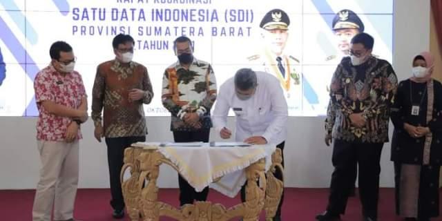 Wako Hadiri Rakor Satu Data Indonesia Provinsi Sumatera Barat
