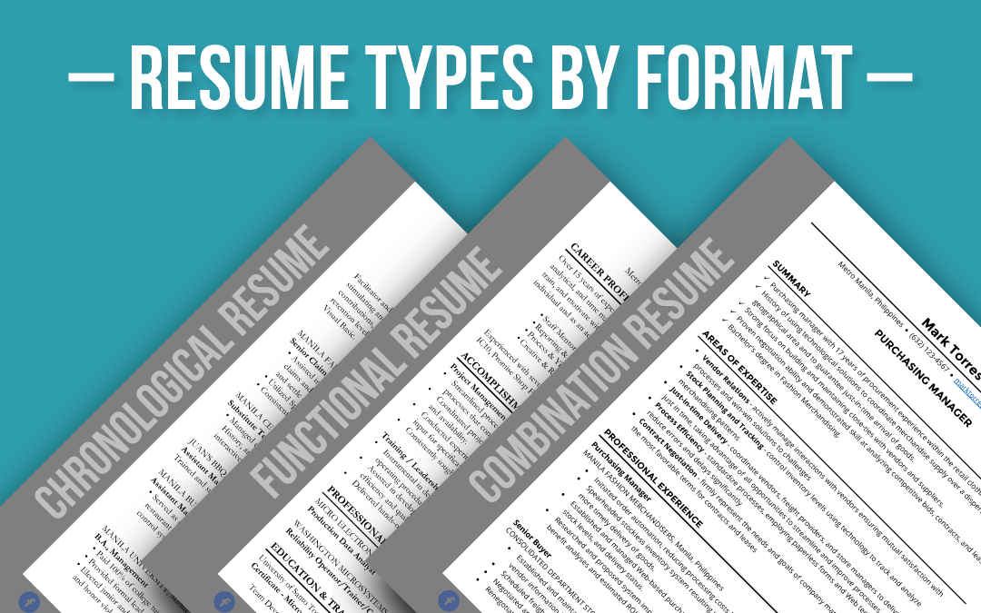 Resume Types by Format
