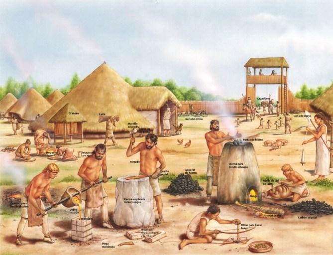 Los dólmenes pervivieron durante la edad de los metales con otros ritos funerarios.