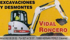 Excavaciones Sierra de Gata, Excavaciones y desmontes Cáceres