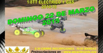Este finde: Interclubs Moro-Puzol-Silla-Requena-Ollería 1/8TT Gas y Eléctrico