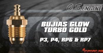 Bujias glow turbo gold P3, P4, RP6 & RP7, ya disponibles en LRP España