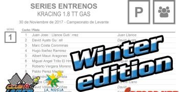 KRacing Winter Edition en La Nucia - Horarios, mangas y planning de reportaje en infoRC