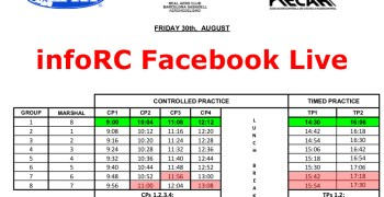 EFRA Euro 1/8-e Off Road Championship. Facebook Live horarios / schedules
