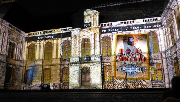 spectacle de Rennes la nuit