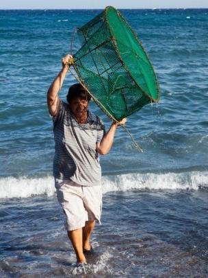 Agricultora pesca