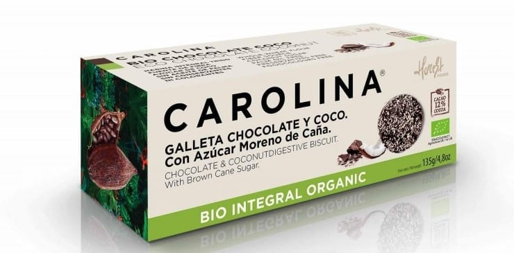 galletas Carolina Honest Foods chocolate