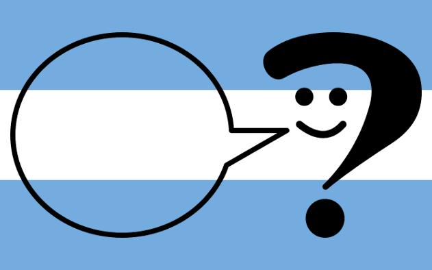 bandera argentina con signo de pregunta