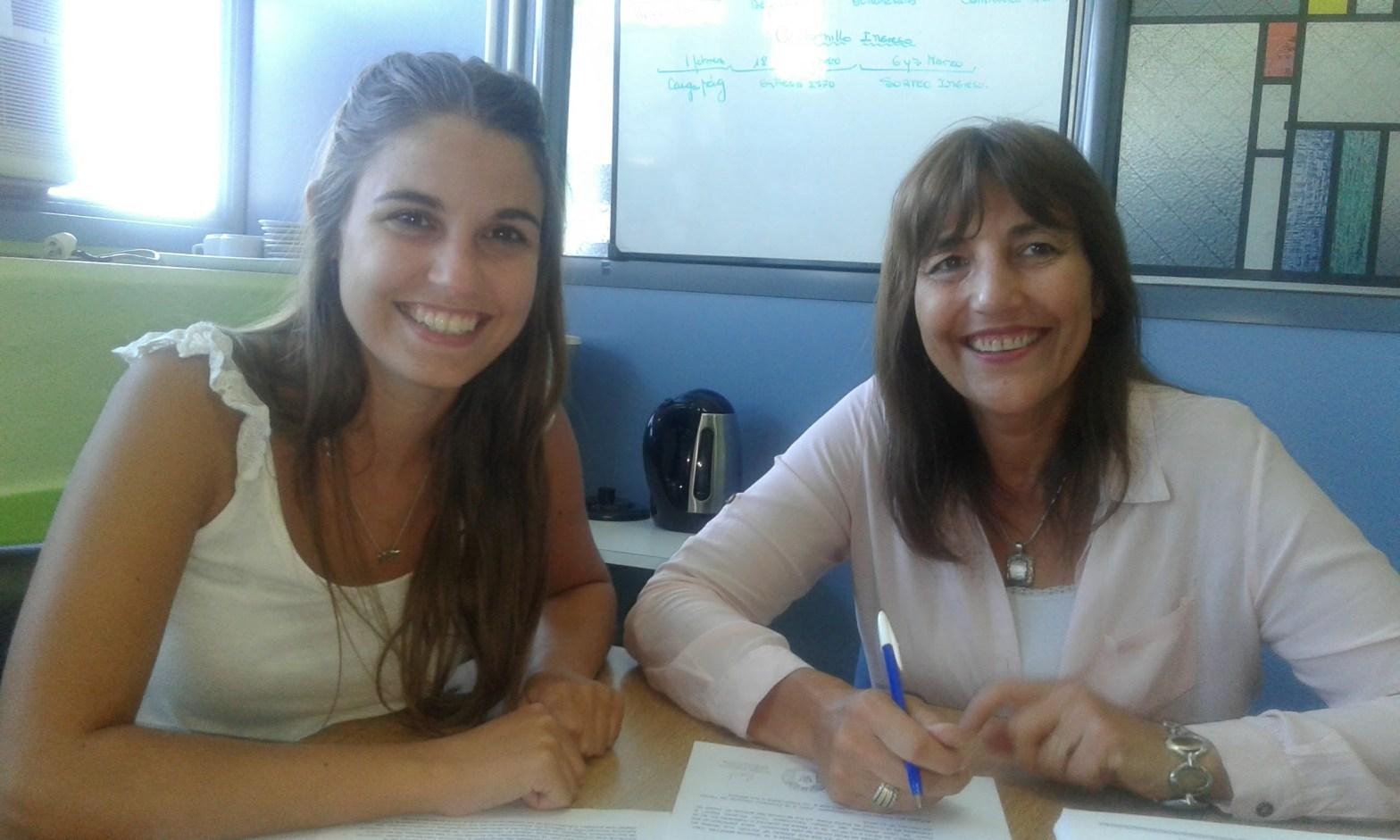 foto de Mabel García y Cecilia Oddone