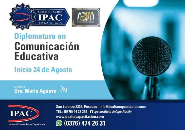 Volante de la Diplomatura en  Comunicación Educativa