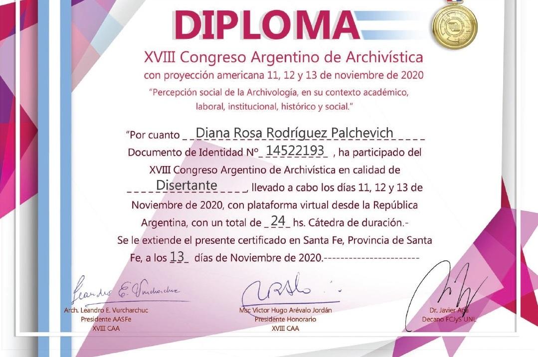 diploma de la disertación