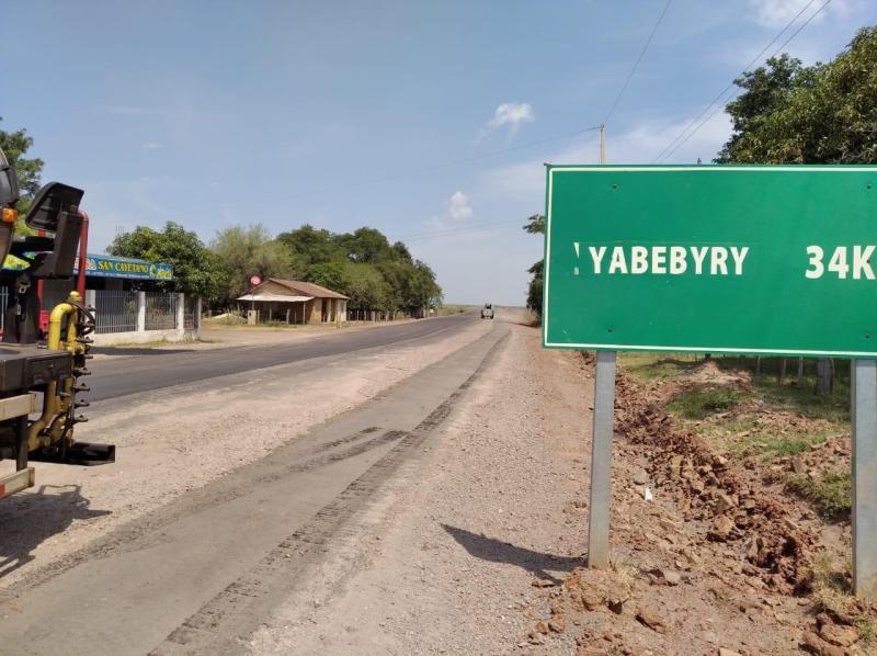 IMG_20200317_142007 Inician asfalto entre San Ignacio y Yabebyry