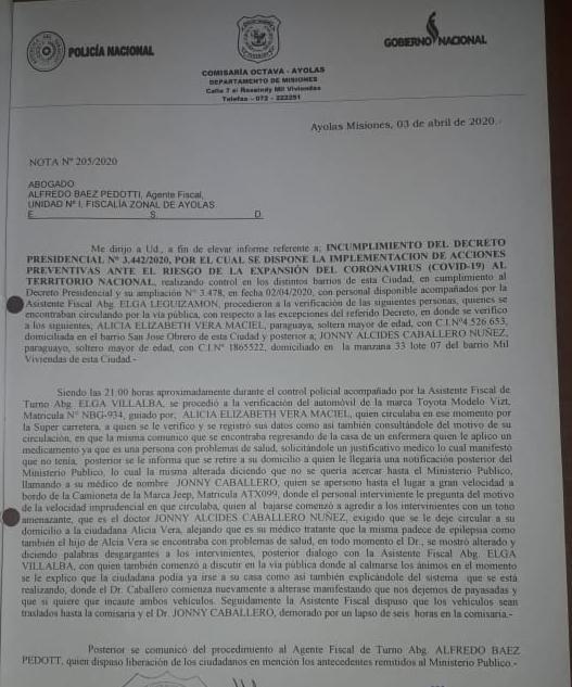 IMG-20200404-WA0357 Amiguismo logró adulterar informe policial en Ayolas