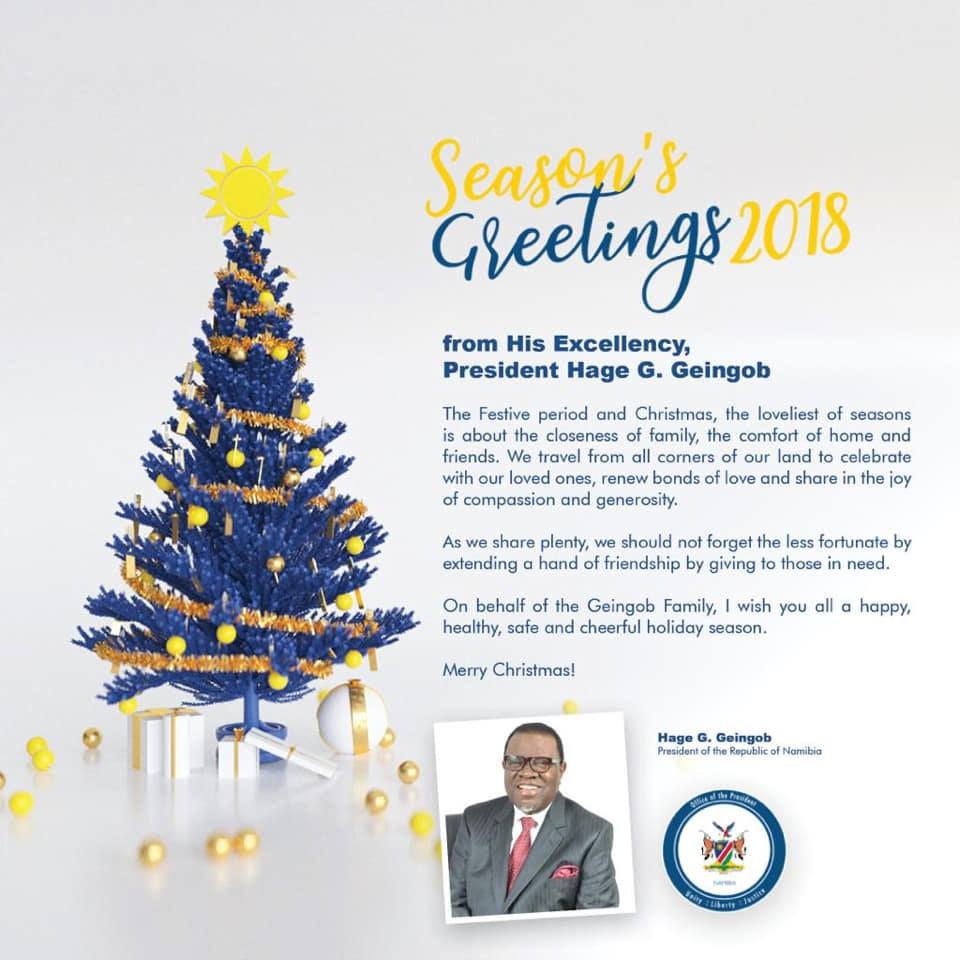 The very best of wishes from the President