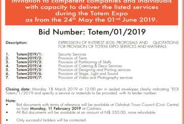 Oshakati Town Council Invitation to Bid