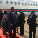 President Geingob arrives back home from Addis Ababa